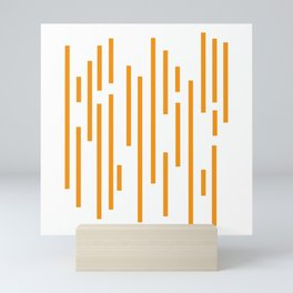 Minimalist Lines – Orange Mini Art Print