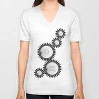 gears of war V-neck T-shirts featuring gears by Great Siberia Studio