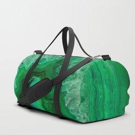 Green Emerald Agate Duffle Bag