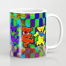 Grateful Dead Dancing Bears Colorful Psychedelic Characters #2 Mug