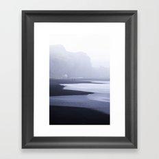 Black Sand Beach of Vik Framed Art Print