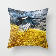 Wild Magpie Throw Pillow