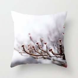Icy Branches #2 Throw Pillow