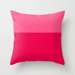 Color Block Pink Throw Pillow