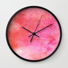 EVER SO WATERCOLOUR PINK RAINDROPS Wall Clock