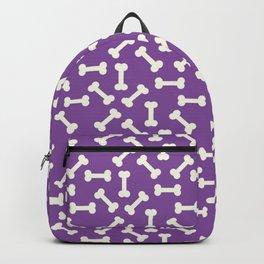 Halloween Print - Skeleton Bones Pattern - Purple And White - Creepy / Spooky / Fall Backpack