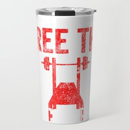 Free The Bench Press Medium Weathered Travel Mug