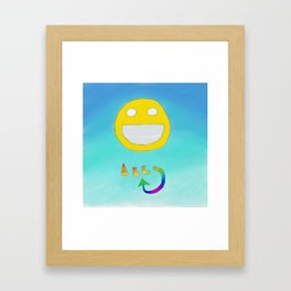Happiness All Around Framed Art Print