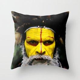 Papua New Guinea: Huli Wigman Throw Pillow