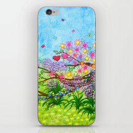 Garden for 3 sisters iPhone Skin