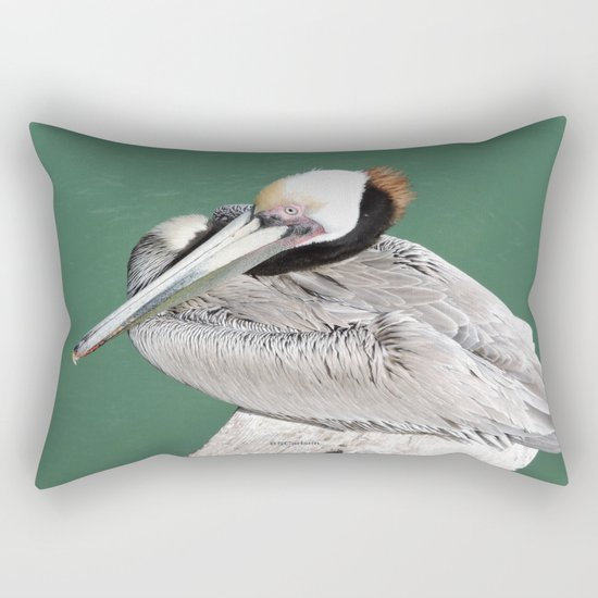 Brown Pelican near Avila Beach Rectangular Pillow
