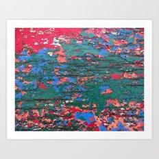 Chipping Paint Art Print