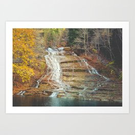 Buttermilk Falls in Autumn Art Print