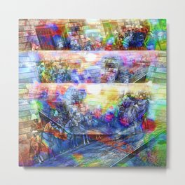 where a query might be time goes in what direction Metal Print