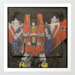 Starscream plays a Flying V Art Print