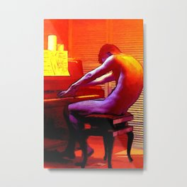 Le Pianiste Amoureux Metal Print