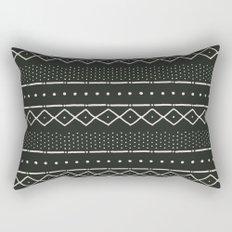 Mudcloth in bone on black Rectangular Pillow