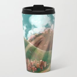Sunrise Over The Valley Town Travel Mug