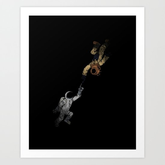In to the Deep Art Print