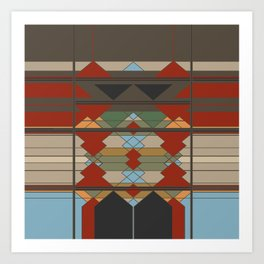 Tribal Southwestern Geo Design Art Print