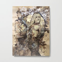 Kate by carographic, Carolyn Mielke Metal Print