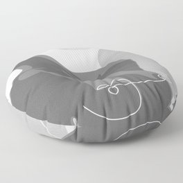 Covered With Line Floor Pillow
