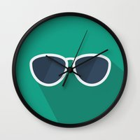 chill Wall Clocks featuring Chill by Zach Cmiel