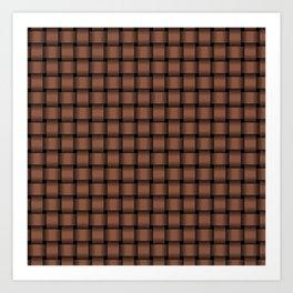 Small Dark Brown Weave Art Print
