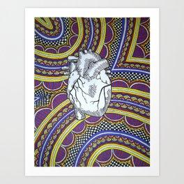 Oh The Heart (Full) Art Print
