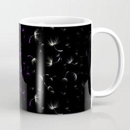 Dandelion Seeds Asexual Pride (black background) Coffee Mug