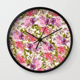 elegant summer flower Wall Clock