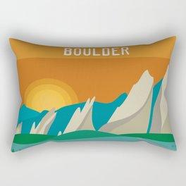 Boulder, Colorado - Skyline Illustration by Loose Petals Rectangular Pillow