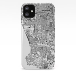 Los Angeles White Map iPhone Case
