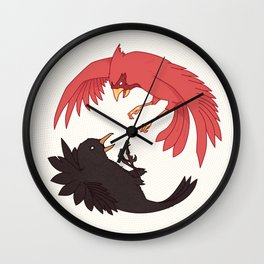The Blackbird & The Cardinal Wall Clock