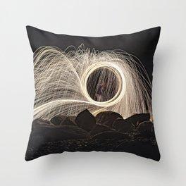 Firespinner #2 Throw Pillow