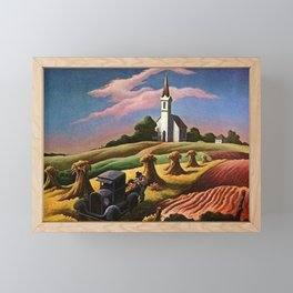 Missouri Landscape by Thomas Hart Benton Framed Mini Art Print