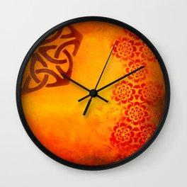 Abstract heat Wall Clock
