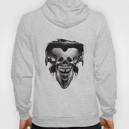 Funny Hipster Skull with Headphones Hoody