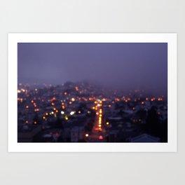 Fog. Art Print