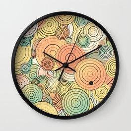Layered circles Wall Clock