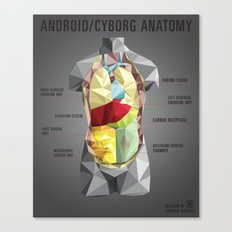 Android/Cyborg Anatomy Canvas Print