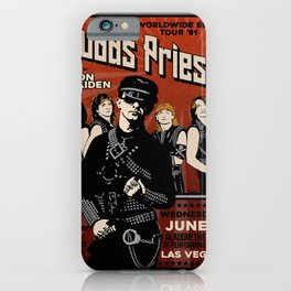 Ju-das Pri-est 1981 Tour Poster Art Print  iPhone Case