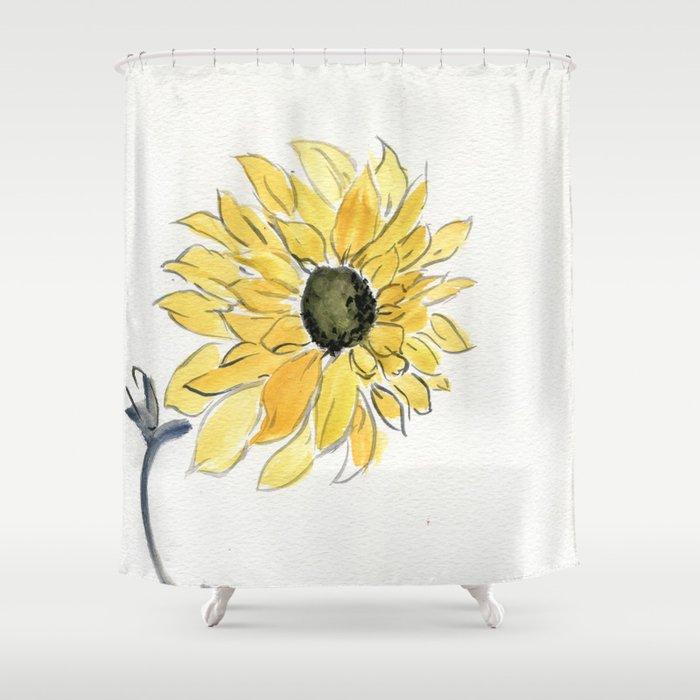 The Last Sunflower Shower Curtain