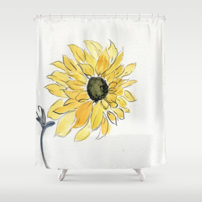 The Last Sunflower Shower Curtain