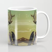 dreamcatcher Mugs featuring DREAMCATCHER by ANVIK