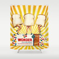 women Shower Curtains featuring Wonder Women by Kelly Gilleran