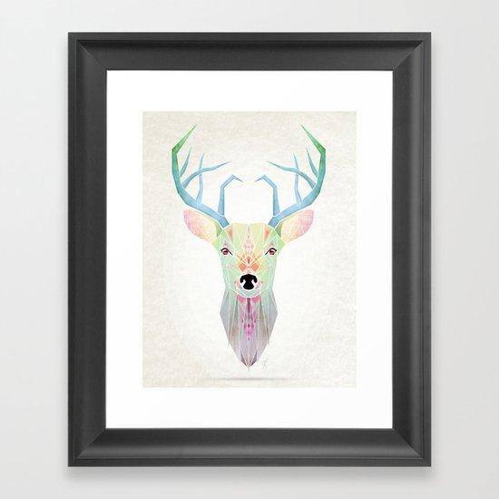 white deer Framed Art Print