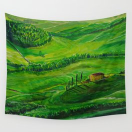 Greenland with a small house Wall Tapestry