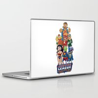 justice league Laptop & iPad Skins featuring Justice League of Muppets by JoshEssel