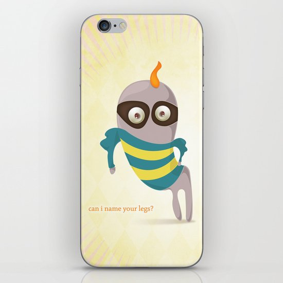 Can I name your legs? iPhone & iPod Skin